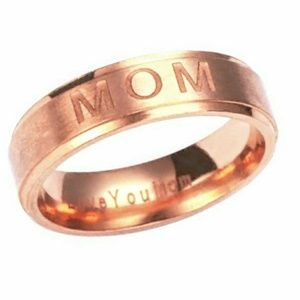 """Rose Gold Ring for Mom, engraved """"Love You Mom"""